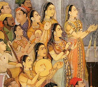 Dilras Banu Begum - Female musicians at the wedding of Dilras Begum and Aurangzeb.