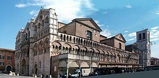Ferrara: veduta esterna della Cattedrale di San Giorgio Martire dove Frà  Daniele da Castrovillari fu organista per molti anni