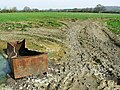 Field entrance, Sodom Lane, near Dauntsey Lock - geograph.org.uk - 1207996.jpg