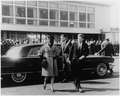 First Lady departs for trip to India and Pakistan. Mrs. Kennedy, President Kennedy. National Airport, MATS Terminal... - NARA - 194178.tif