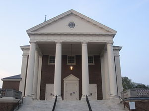 Charlottesville, Virginia - First United Methodist Church in the historic district of downtown Charlottesville (pictured July 2011) has since been renovated.