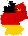 Flag map of West & Soviet-Occupied Germany (1949).png