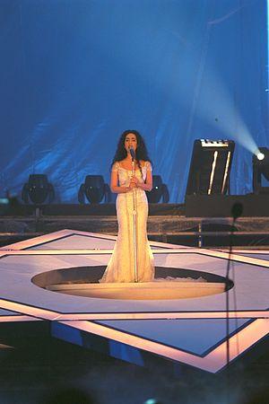 Rita (Israeli singer) - Rita singing Hatikvah, 1998
