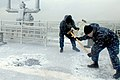 Flickr - Official U.S. Navy Imagery - Sailors use sledgehammers to break ice from the ship..jpg