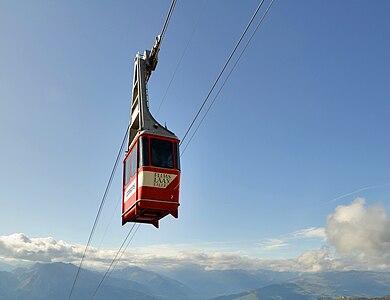 cableway in Flims, Switzerland
