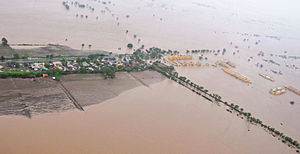 2015 Gujarat cyclone - Flood affected areas of Amreli district on 24 June 2015