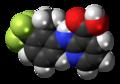 Flunixin molecule spacefill.png