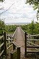 Footbridge over the M27 leading to Upper Cornaway Lane - geograph.org.uk - 510462.jpg