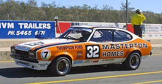 1981 Australian Touring Car Championship - Colin Bond placed third driving a Ford Capri Mk II. The car is pictured in 2005.