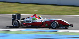Jim Pla - Pla competing at the second round of the 2010 Formula 3 Euro Series at Hockenheim.