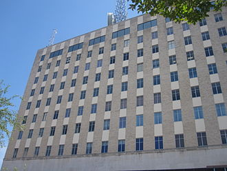 Longview, Texas - Longview's tallest building is 10 stories and houses the Citizens National Bank. When it was built in 1956, it was built to be able to be expanded to 17 stories.