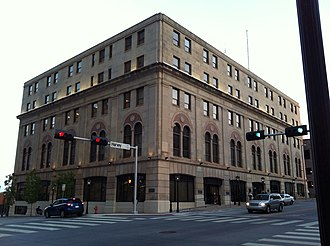 Elks Lodge Building (Oklahoma City) - Image: Former Elks Lodge is now headquarters for Oklahoma Natural Gas Company
