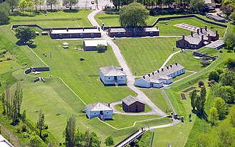 Fort York - Aerial view of Fort York