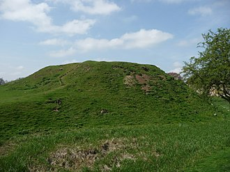 Fotheringhay Castle - The motte of Fotheringhay Castle