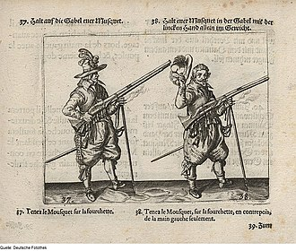 Musket - Heavy muskets, image produced 1664.