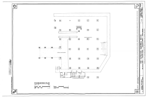Foundation Plan - Nathaniel Barnwell House, 1023 Middle Street, Sullivans Island, Charleston County, SC HABS SC-875 (sheet 3 of 12).png