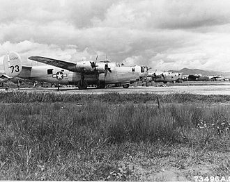 Fourteenth Air Force - Newly arrived Fourteenth Air Force B-24 Liberators on the line at Kunming Airport, China on 6 September 1944.