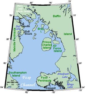 Foxe Basin On Canada Map Foxe Basin   Wikipedia