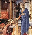Fra Filippo Lippi - Annunciation with two Kneeling Donors - WGA13199 (cropped).jpg