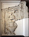 Frammento di fregio con kantharos, maschera teatrale, patera e tralci, dall'interno della cella del tempio di venere genitrice nel foro di cesare, età traianea, 113 dc ca. 01.JPG