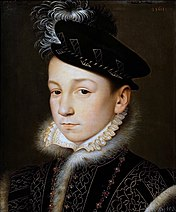 Charles IX  shortly after the accession to the throne
