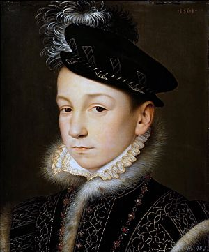 Charles IX of France - Portrait of Charles IX shortly after acceding to the throne, by François Clouet.
