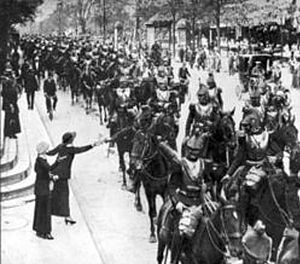 French Calvary going to front, Paris, August 2...