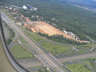 International E-road network - Intersection of E 42 and E 451 near Frankfurt Airport
