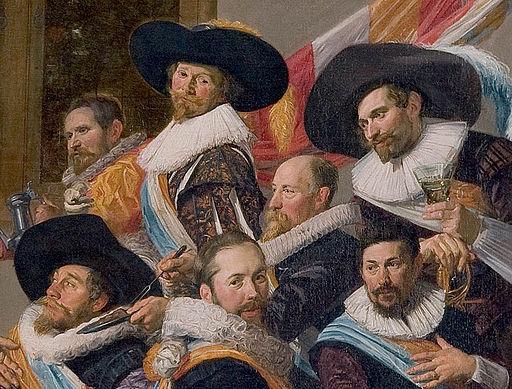 Frans Hals - detail showing Cavalier hats