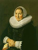 Frans Hals - portrait of a woman clasping her hands and holding an open book.jpg