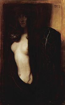 The Sin, 1893 painting by Franz von Stuck