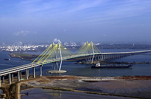 Baytown, Texas - The Fred Hartman Bridge, which connects Baytown to La Porte