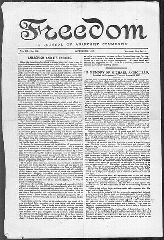 Freedom (newspaper) - September 1897 front page