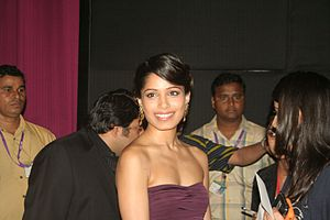 English: Freida Pinto at the special screening...