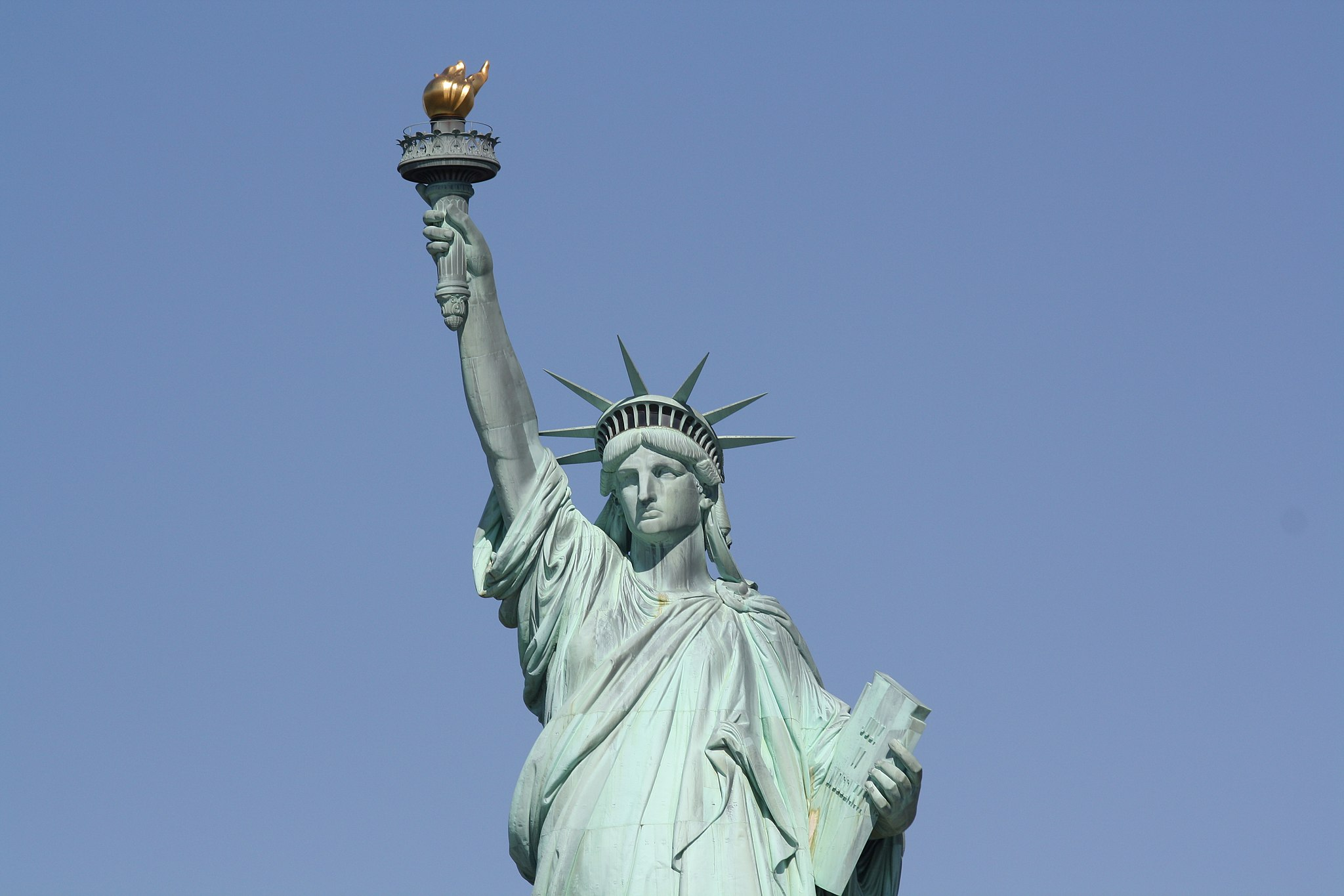 Freedom is not a settled thing … the Statue of Liberty, Liberty Island, New York Upper Bay
