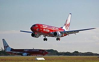 Virgin Australia Holdings - Virgin Australia aircraft at Brisbane Airport