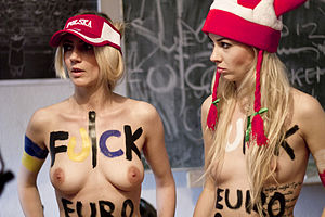 Femen - Femen protest against EURO 2012 on 8 June 2012