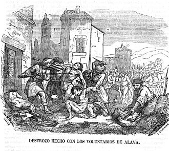Lord Eliot Convention - The Lord Eliot Convention sought to end indiscriminate executions by firing squad during the First Carlist War, such as those committed at Heredia, pictured here.