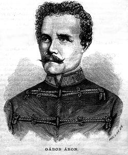 Gábor Áron, Pollák Zsigmond metszete, 1881