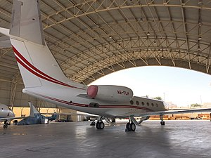 WT1190F - Gulfstream 450 business jet rented for the mission