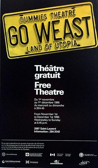 Dummies Theatre - Image: GO WEAST, Original Montreal run poster, 1996