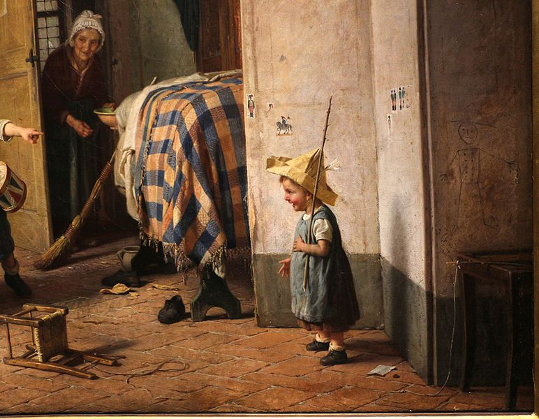 Файл: Gaetano chierici, l'isintinto allle armi, 1868, 02.JPG