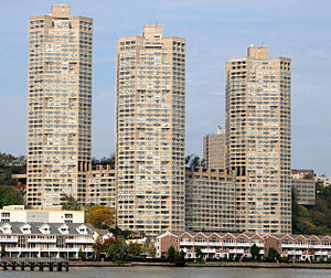 Guttenberg, New Jersey - View of the Galaxy Towers from the Hudson River