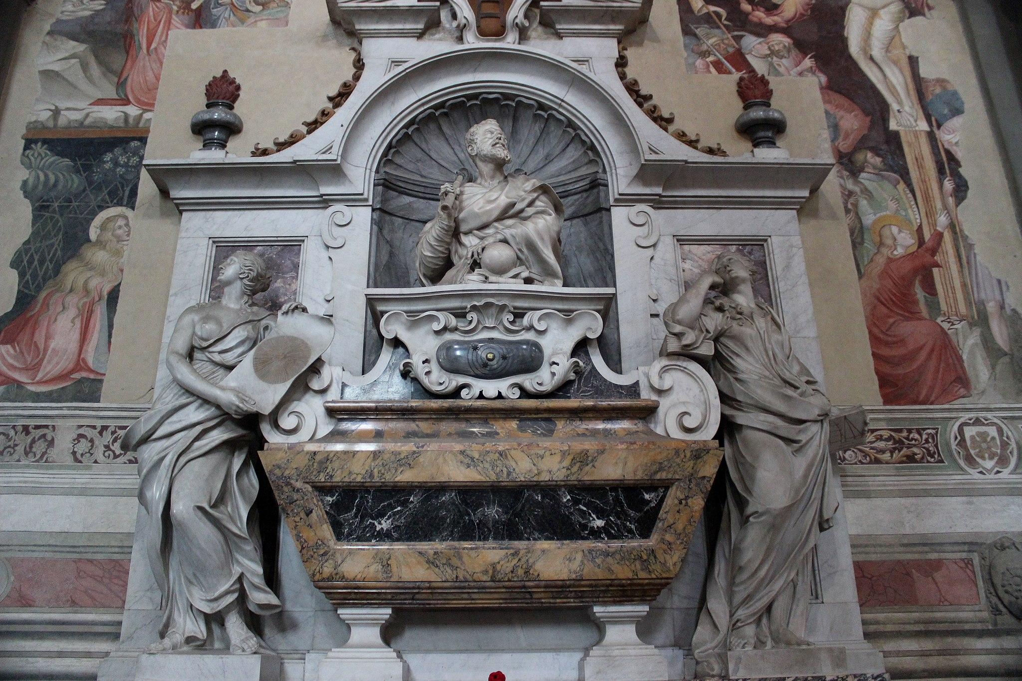 Tomba di Galileo Galilei, (particolare)Basilica of Santa Croce,Firenze