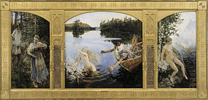 Akseli Gallen-Kallela - The Aino Myth, triptych, 1891