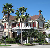 Galveston contains many restored Victorian homes.
