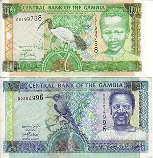 Gambian dalasi - Image: Gambia banknotes 0001