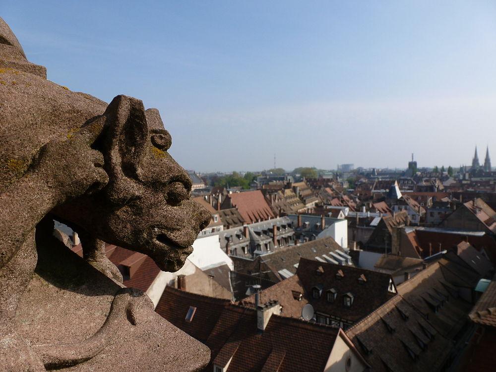 Vue de Strasbourg depuis la cathédrale