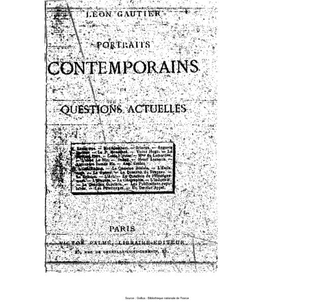 File:Gautier - Portraits contemporains et questions actuelles.djvu
