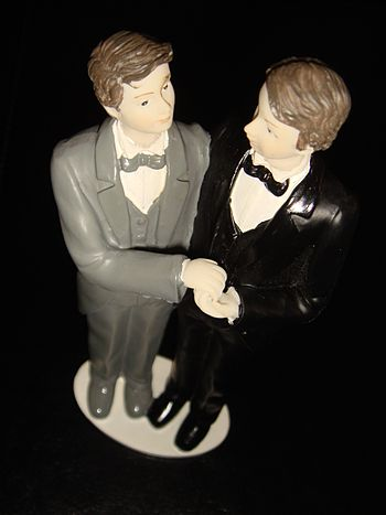 Gay couple for wedding cake. Picture by Stefan...